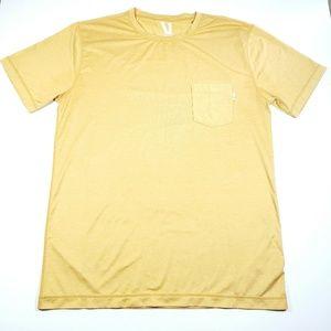 Mens Vuori performance tshirt gold sz large L4